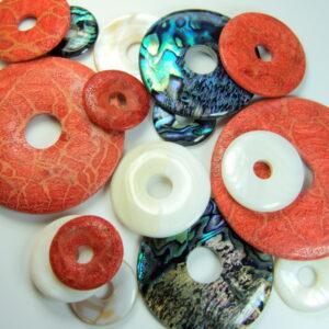 Paua Meer Opal-Perlmutt-Koralle rot (Schaumkoralle)
